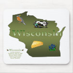 Wisconsin Mousepad Alfombrillas De Ratones