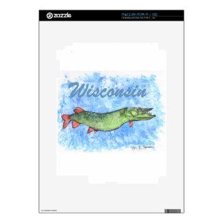 Wisconsin Muskie iPad 2 Skins
