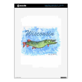 Wisconsin Muskie Skins For iPad 3