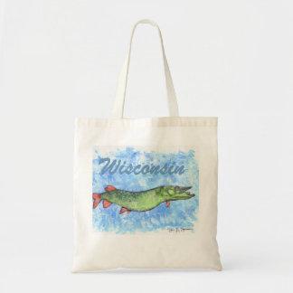 Wisconsin Muskie Tote Bag