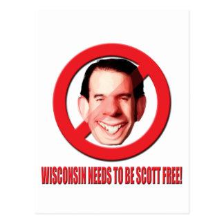 ¡Wisconsin necesita ser Scott libre! Tarjeta Postal