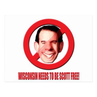 ¡Wisconsin necesita ser Scott libre! Tarjetas Postales