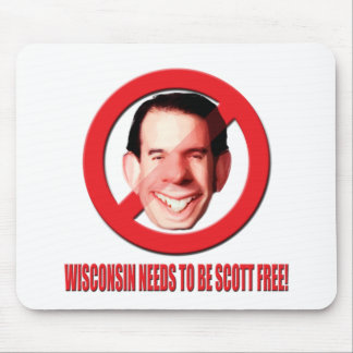 Wisconsin Needs to be Scott Free! Mouse Pad