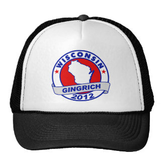 Wisconsin Newt Gingrich Trucker Hat