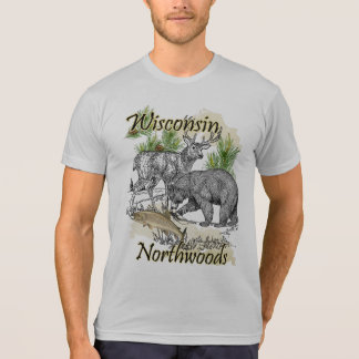 Wisconsin Northwoods Sportsman Hunting Fishing T-Shirt