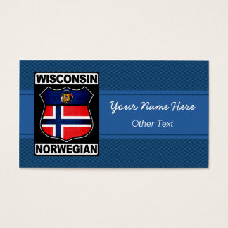Wisconsin Norwegian American Business Cards
