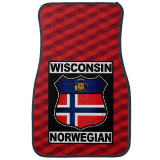 Wisconsin Norwegian American Car Floor Mat