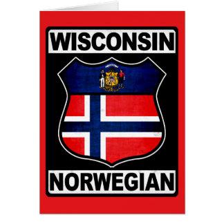Wisconsin Norwegian American Card