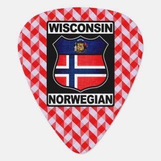 Wisconsin Norwegian American Guitar Pick