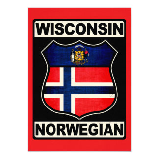 "Wisconsin Norwegian American 5"" X 7"" Invitation Card"