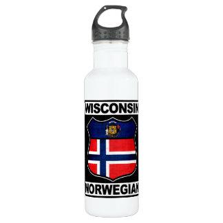 Wisconsin Norwegian American Water Bottle