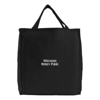 Wisconsin Notary Public Embroidered Bag