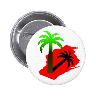 Wisconsin Palm Tree 2 Inch Round Button