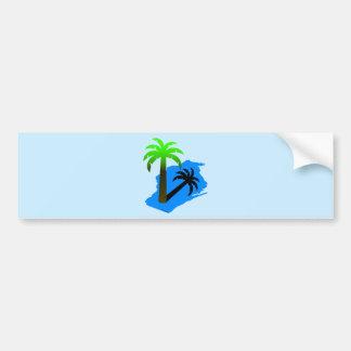 Wisconsin Palm Tree Bumper Sticker