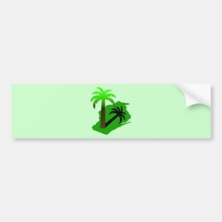 Wisconsin Palm Tree Car Bumper Sticker