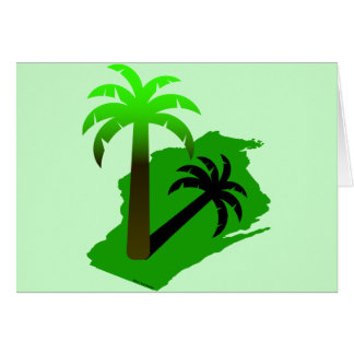 Wisconsin Palm Tree Card