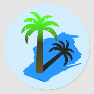 Wisconsin Palm Tree Classic Round Sticker