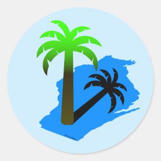 Wisconsin Palm Tree Classic Round Sticker