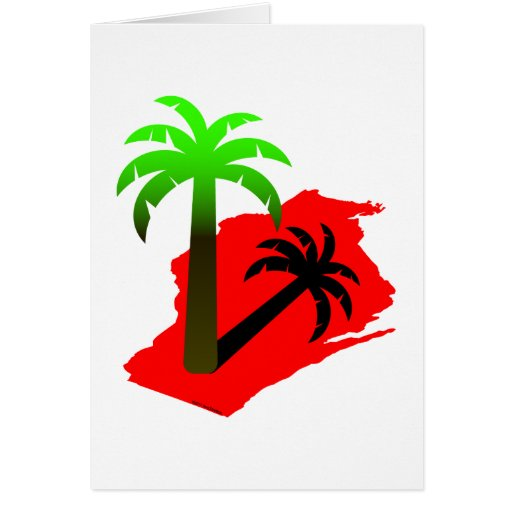 Wisconsin Palm Tree Greeting Cards