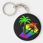 Wisconsin Palm Tree Keychain