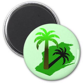 Wisconsin Palm Tree Refrigerator Magnets