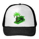 Wisconsin Palm Tree Mesh Hat