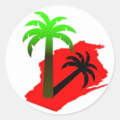 Wisconsin Palm Tree Sticker