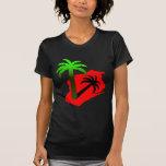 Wisconsin Palm Tree T Shirts