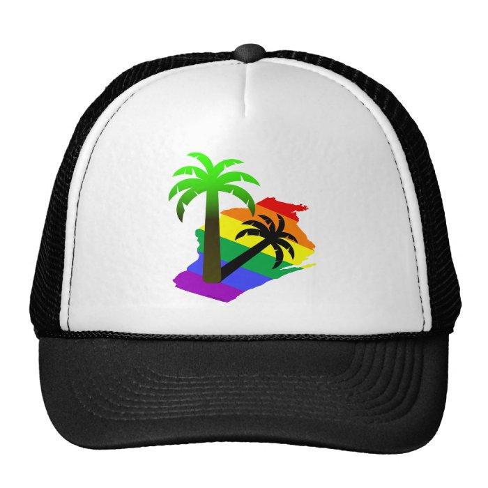 Wisconsin Palm Tree Trucker Hat