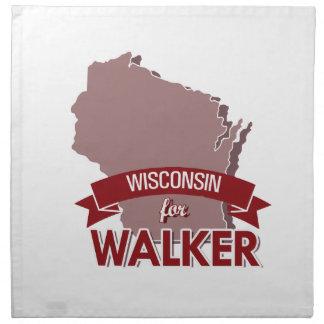 Wisconsin para el caminante - elección 2016 servilletas de papel