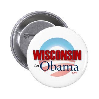WISCONSIN para Obama Pin Redondo 5 Cm