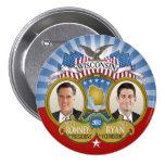 Wisconsin para Romney Ryan - foto doble Pins