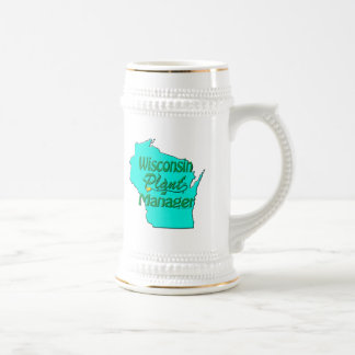 Wisconsin Plant Manager 18 Oz Beer Stein