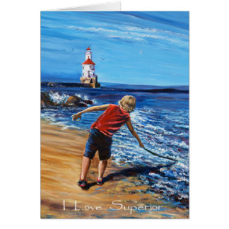 Wisconsin Point Beach, Greeting Card