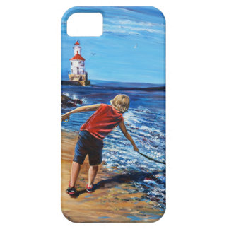 Wisconsin Point Beach, iPhone 5/5S, Barely There iPhone SE/5/5s Case