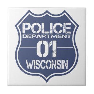 Wisconsin Police Department Shield 01 Ceramic Tile