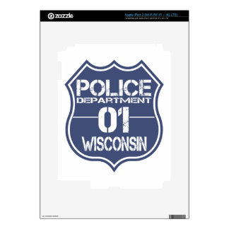 Wisconsin Police Department Shield 01 Decals For iPad 3