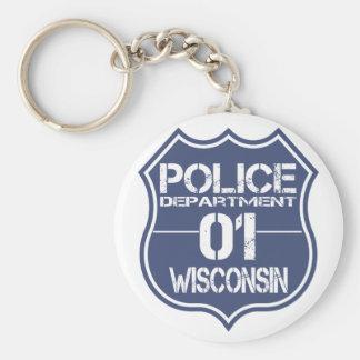 Wisconsin Police Department Shield 01 Keychain