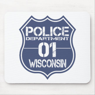 Wisconsin Police Department Shield 01 Mouse Pad