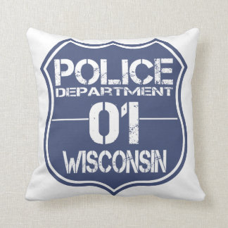 Wisconsin Police Department Shield 01 Pillow