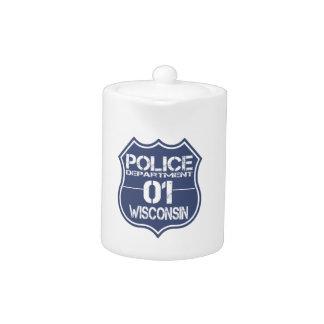 Wisconsin Police Department Shield 01 Teapot