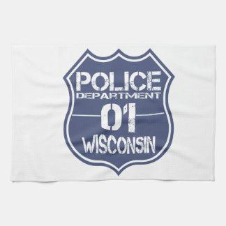 Wisconsin Police Department Shield 01 Towel