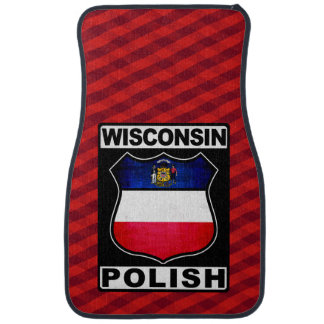 Wisconsin Polish American Car Floor Mat