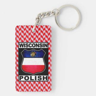 Wisconsin Polish American Keyring