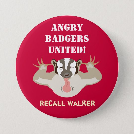 Wisconsin Politics_Angry Badgers United_Recall Button