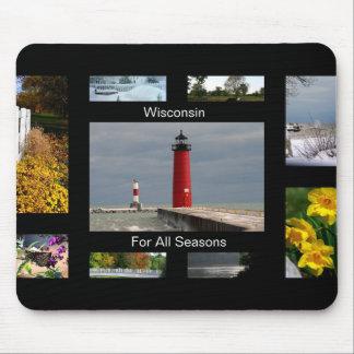 Wisconsin por todas las estaciones tapetes de ratón