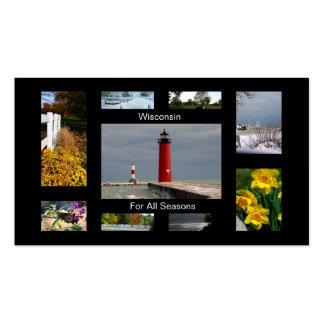 Wisconsin por todas las estaciones tarjetas de visita