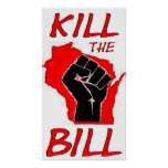 Wisconsin Protest Sign Print
