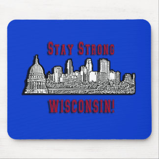 Wisconsin Protesters Support Mouse Pad