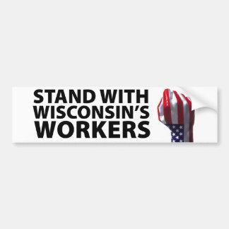 Wisconsin Protests Bumper Sticker